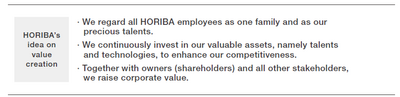 To Our Stakeholders - HORIBA